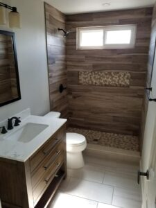Custom Showers Small Bathroom Remodel