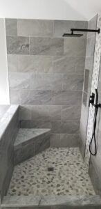 Custom Showers with Benches